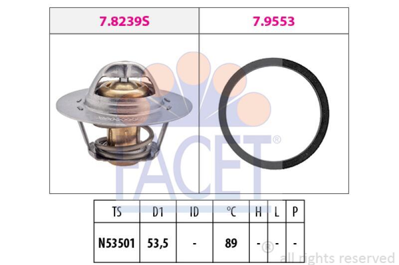 FACET Thermostat für Kühlmittel / Kühlerthermostat