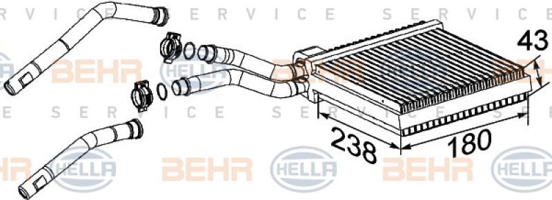 HELLA Wärmetauscher, Innenraumheizung BEHR HELLA SERVICE
