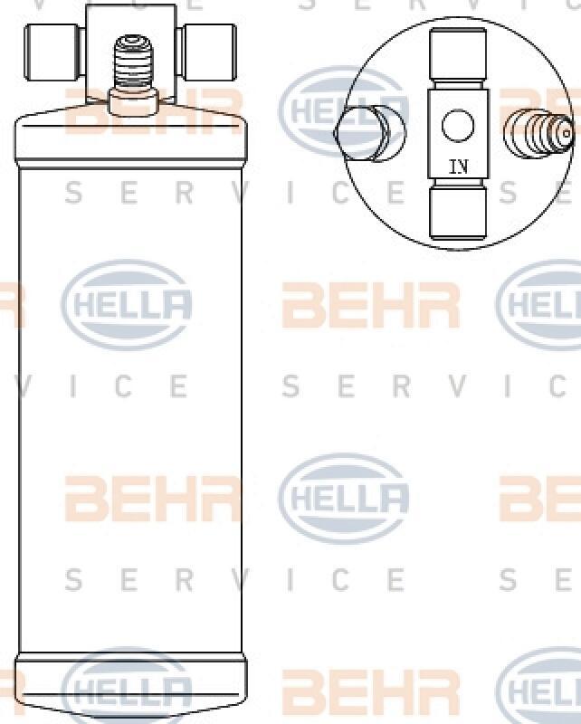 HELLA Trockner, Klimaanlage BEHR HELLA SERVICE