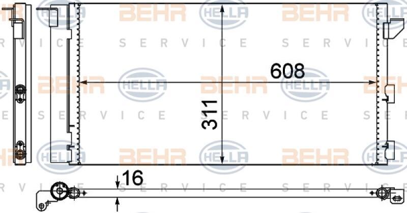 HELLA Kondensator, Klimaanlage BEHR HELLA SERVICE