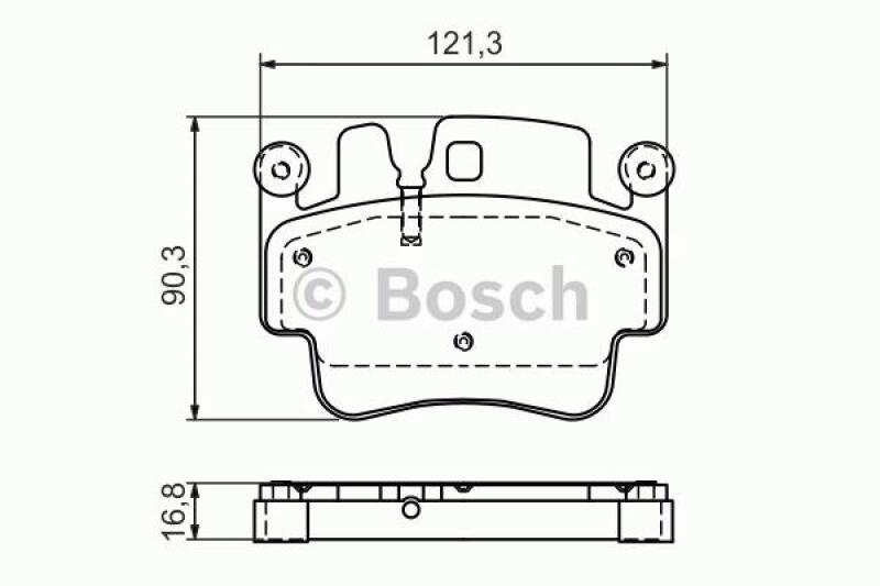 bosch 4x bremsbel ge bremsbelagsatz hinten vorne porsche. Black Bedroom Furniture Sets. Home Design Ideas