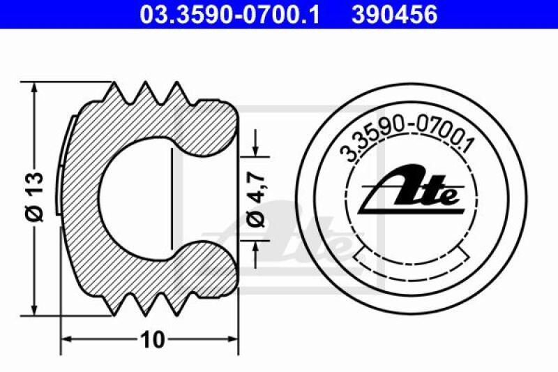ATE Verschluss-/Schutzkappe