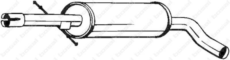 mittelschalld mpfer f r vw golf iv 1j1 1 8 t lott. Black Bedroom Furniture Sets. Home Design Ideas