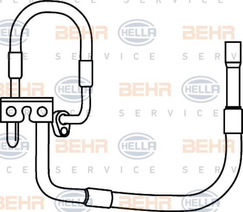 HELLA Hochdruckleitung, Klimaanlage BEHR HELLA SERVICE