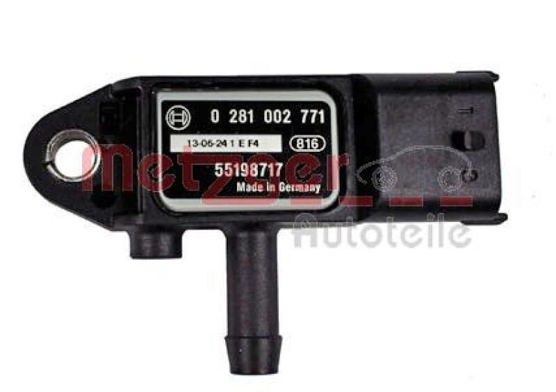 METZGER Sensor, Abgasdruck Original Ersatzteil