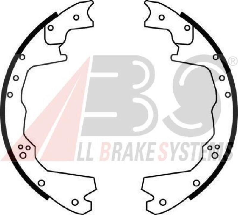 A.B.S. Bremsbackensatz