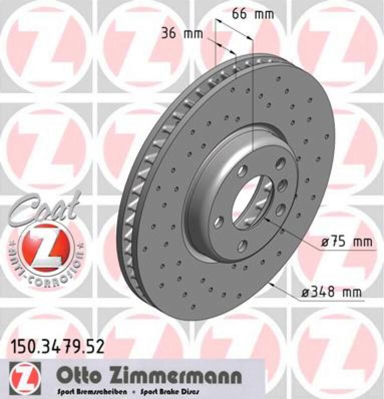ZIMMERMANN Bremsscheibe SPORT-BREMSSCHEIBE COAT Z