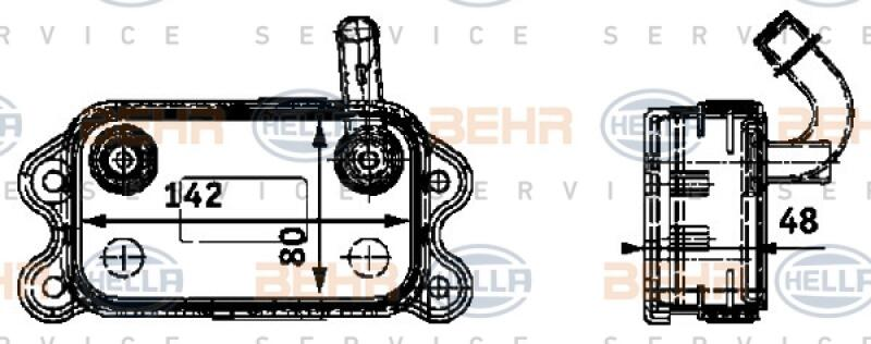 HELLA Ölkühler, Motoröl BEHR HELLA SERVICE