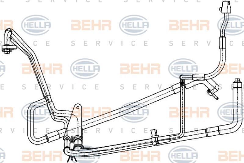 HELLA Hochdruck-/Niederdruckleitung, Klimaanlage BEHR HELLA SERVICE