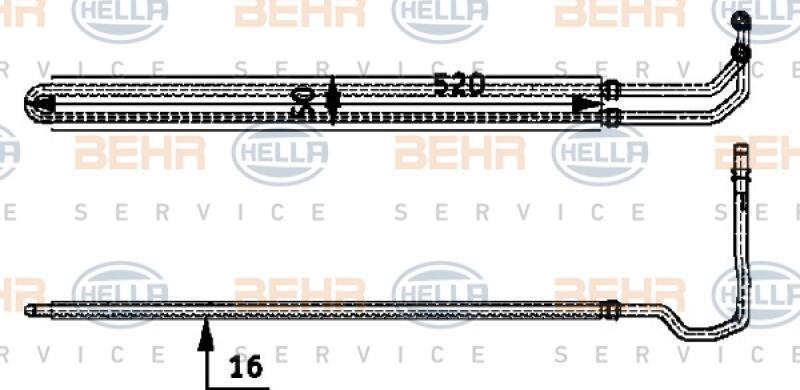 HELLA Ölkühler, Lenkung BEHR HELLA SERVICE
