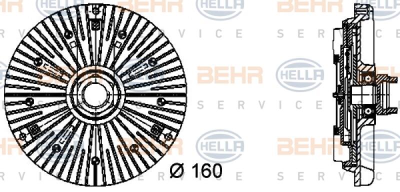HELLA Kupplung, Kühlerlüfter BEHR HELLA SERVICE