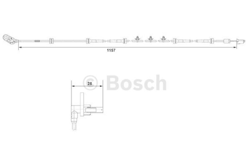 BOSCH Sensor, Raddrehzahl