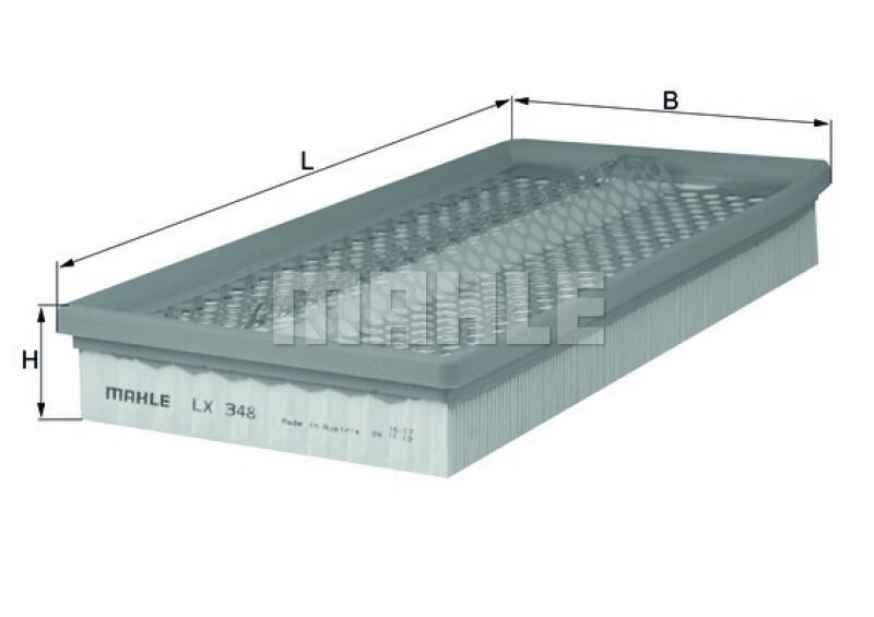 MAHLE ORIGINAL Luftfilter