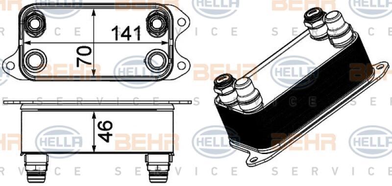HELLA Ölkühler, Automatikgetriebe BEHR HELLA SERVICE