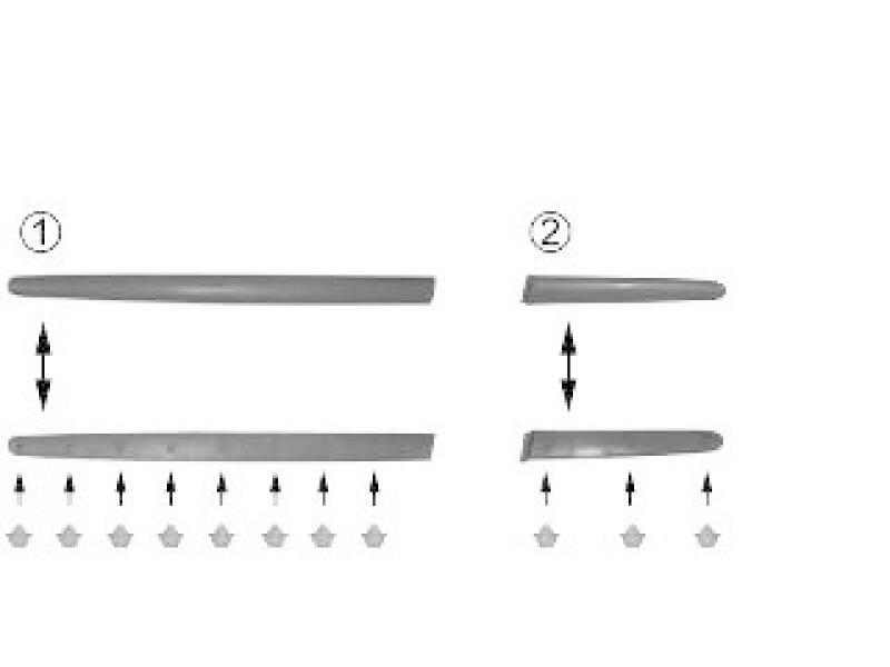 Zier-/Schutzleiste, Seitenwand