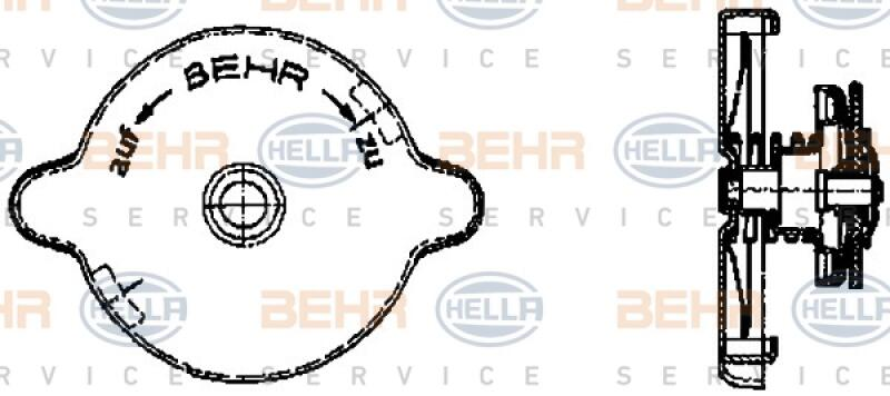 HELLA Verschlussdeckel, Kühlmittelbehälter BEHR HELLA SERVICE