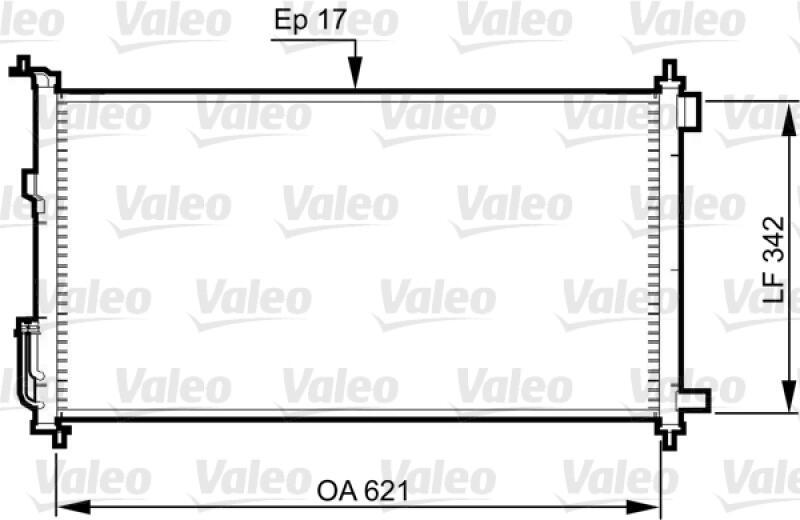 VALEO Kondensator, Klimaanlage