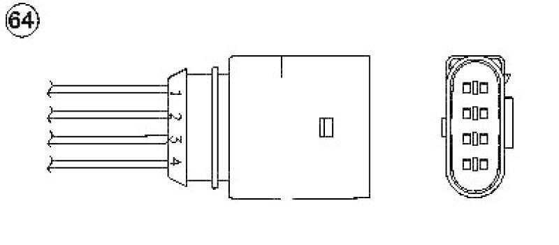 lambdasonde f r vw polo 9n 1 2 lott. Black Bedroom Furniture Sets. Home Design Ideas