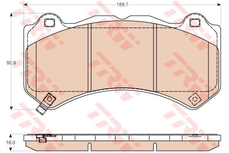 TRW 4x Bremsbeläge Bremsbelagsatz