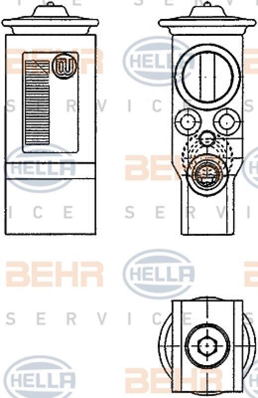 HELLA Expansionsventil, Klimaanlage BEHR HELLA SERVICE
