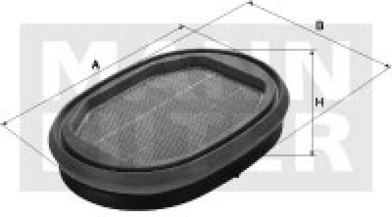 MANN-FILTER Sekundärluftfilter IQORON-V