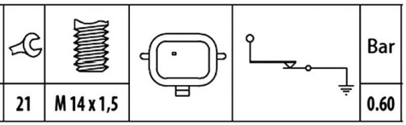 HELLA Öldruckschalter