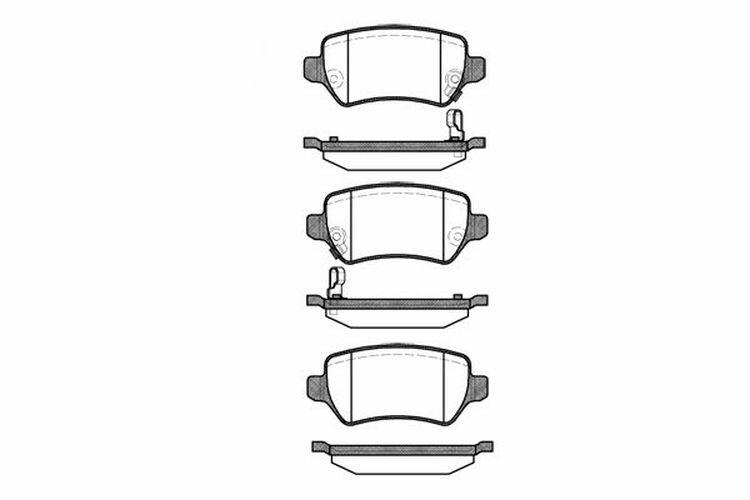 4x Bremsbeläge Bremsbelagsatz