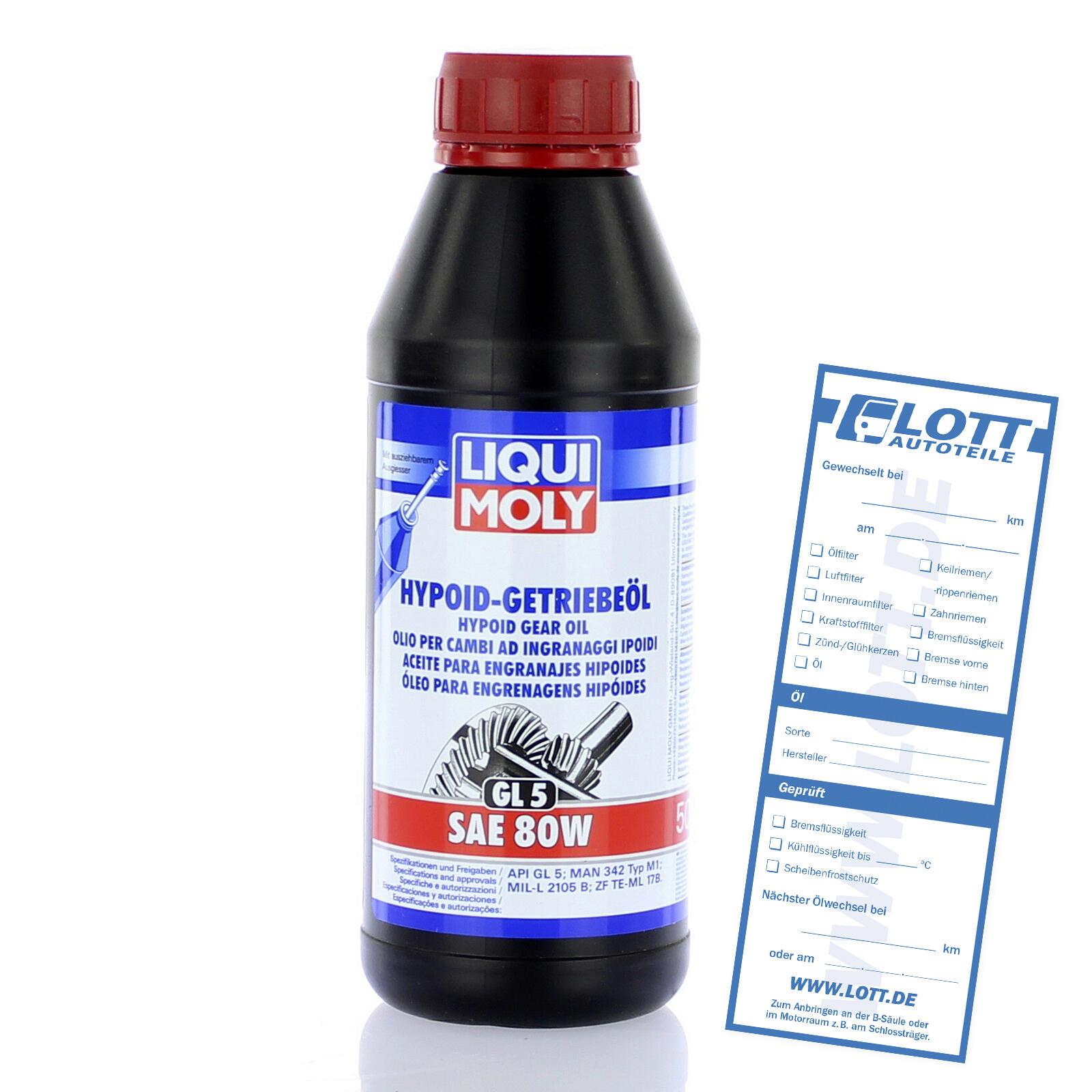 Liqui Moly Hypoidgetriebeöl SAE 80W 500ml