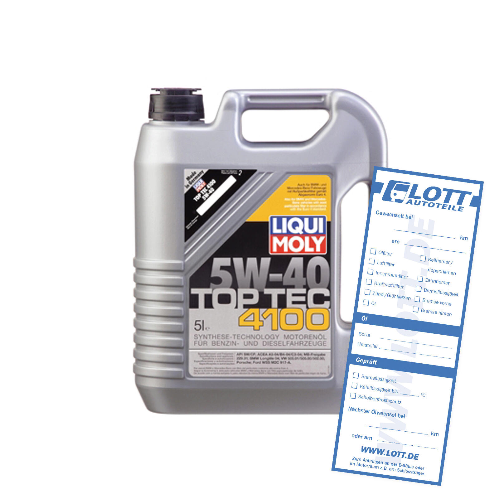 LIQUI MOLY Engine Oil Top Tec 4100 5W-40