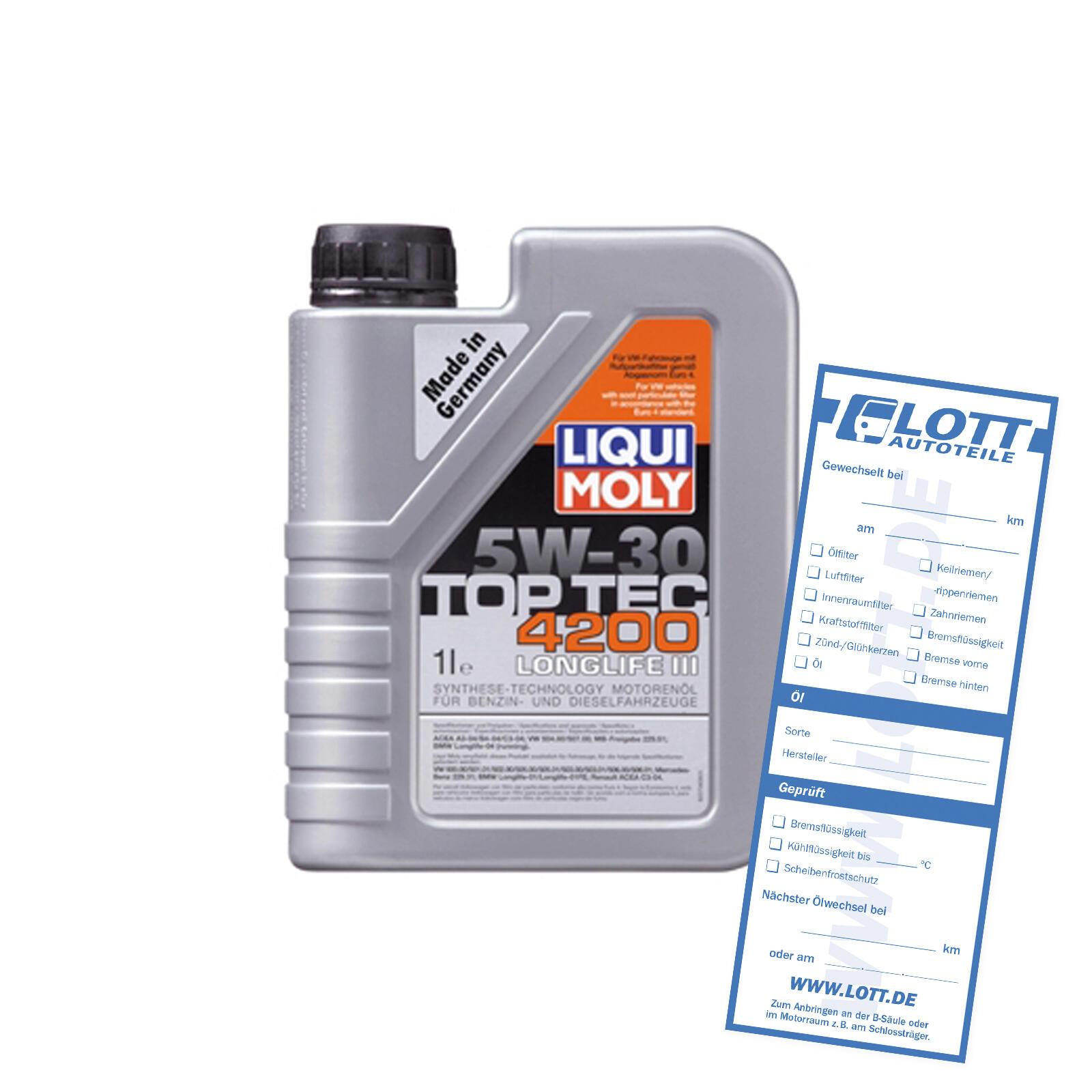 Liqui Moly Leichtlaufmotorenöl Top Tec 4200 5W-30 1L