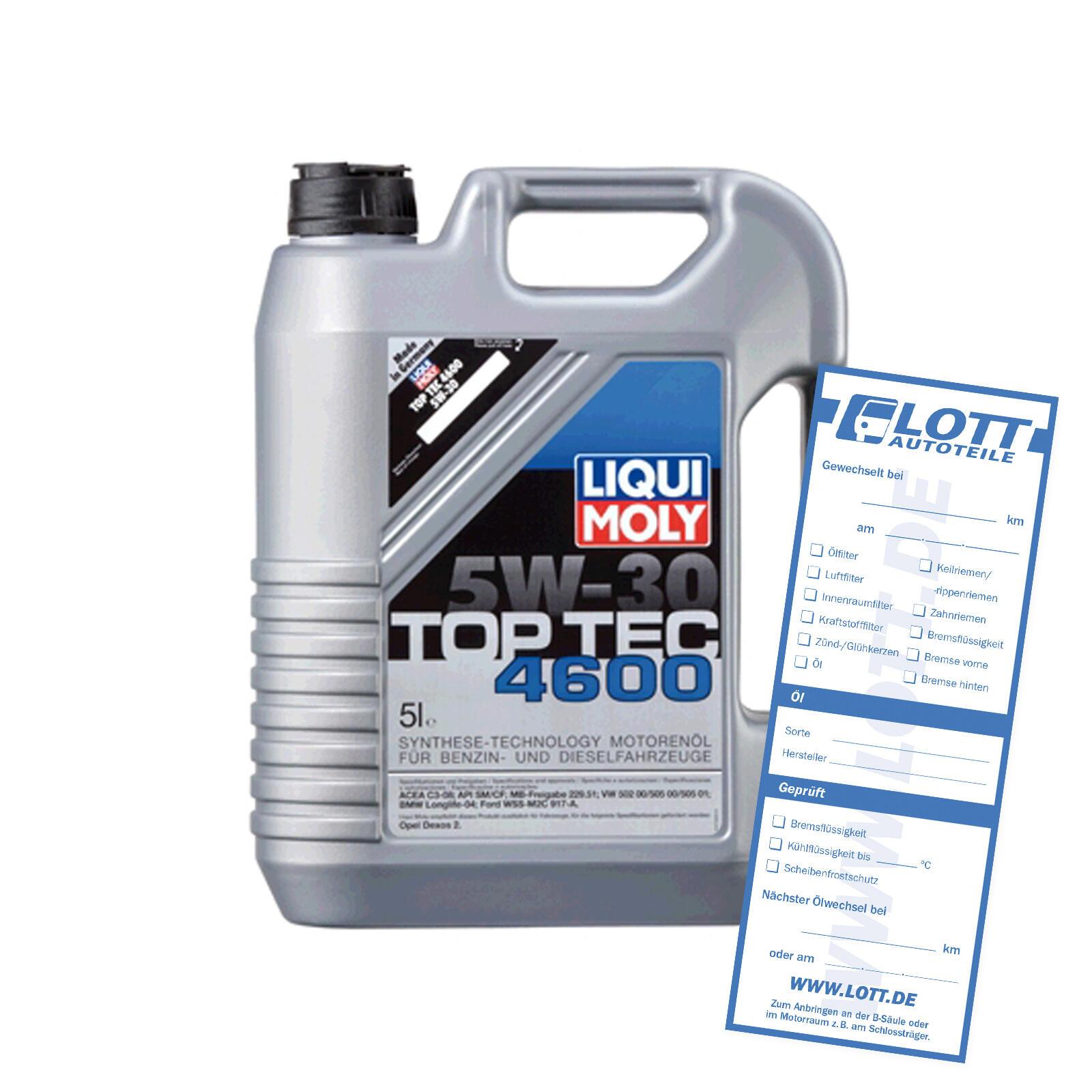 Liqui Moly Leichtlaufmotorenöl 4600 5W-30 5L