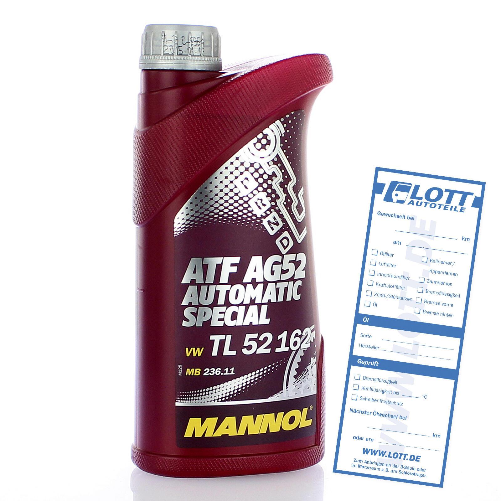 MANNOL ATF AG52 Automatic Special Getriebeöl 1 Liter