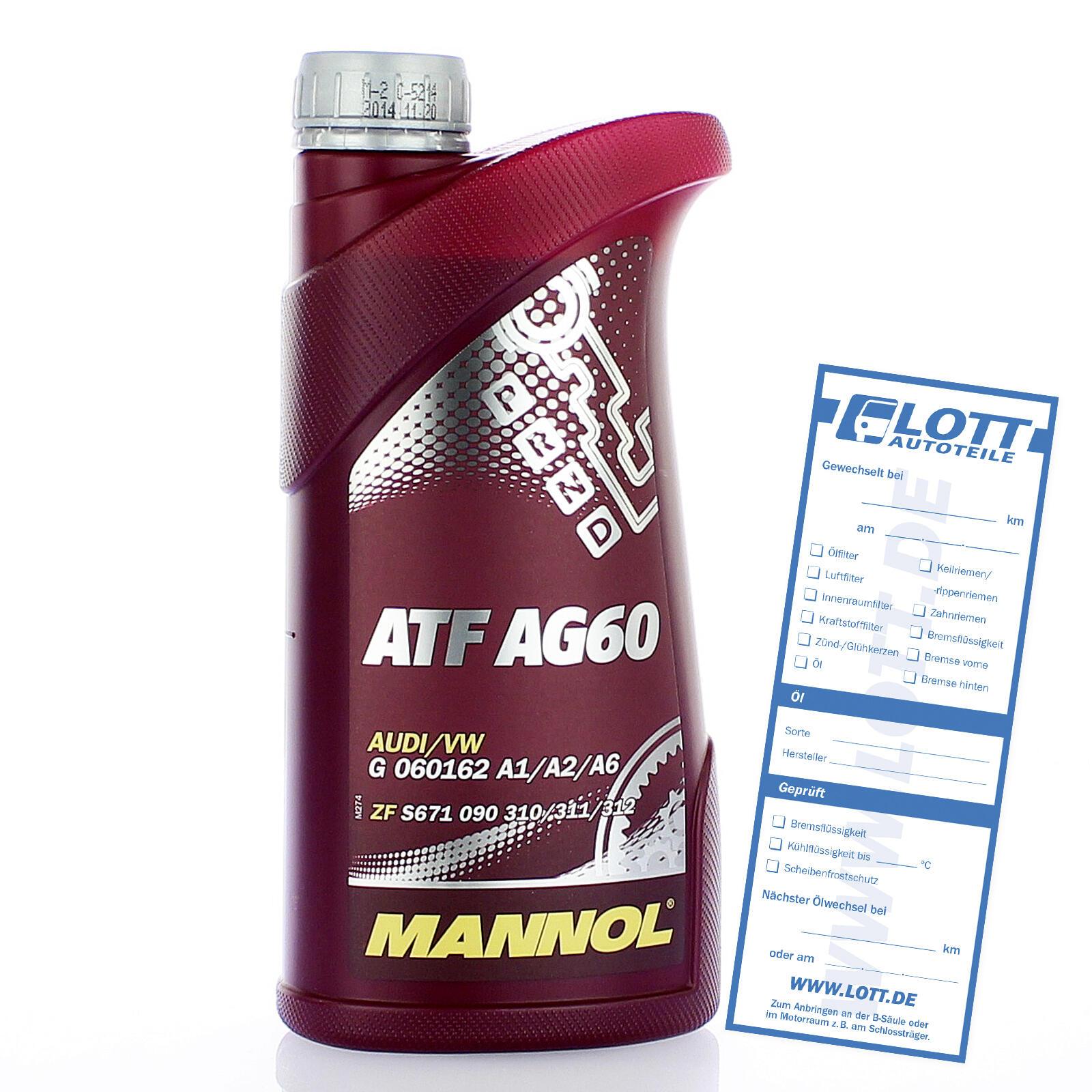 MANNOL ATF AG60 AUTOMATIC SPECIAL  GETRIEBEÖL 1 Liter
