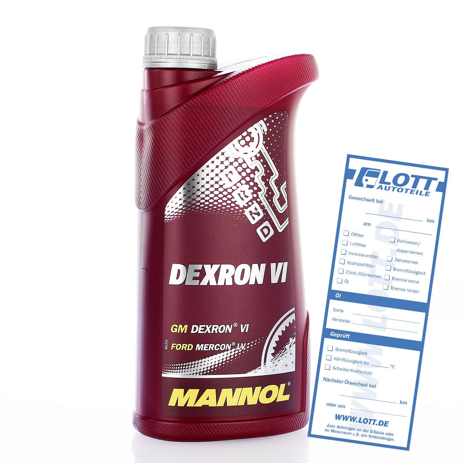 MANNOL Dexron VI Automatik Getriebeöl 1 Liter