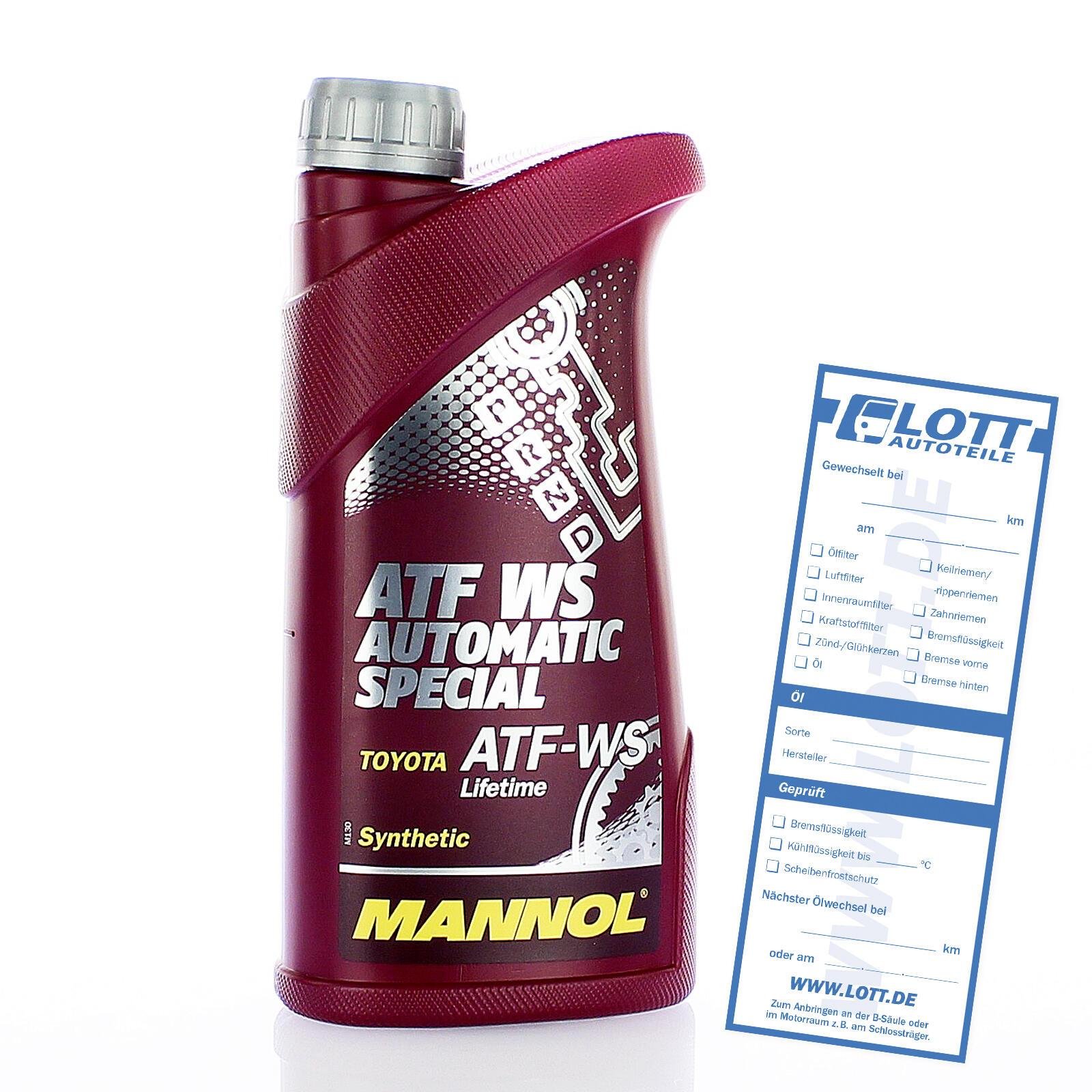 MANNOL ATF WS Automatic Spezial Getriebeöl 1 Liter