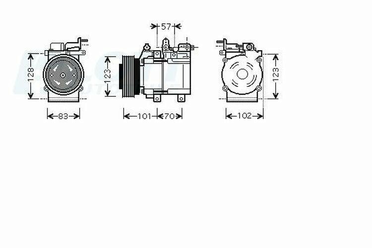 AVA QUALITY COOLING Kompressor, Klimaanlage