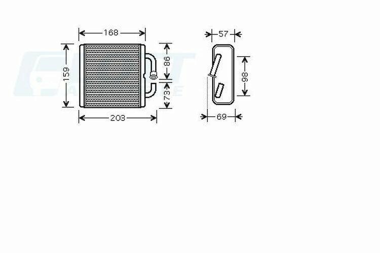 AVA QUALITY COOLING Wärmetauscher, Innenraumheizung