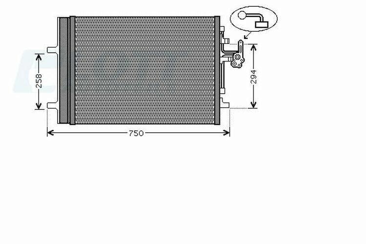 AVA QUALITY COOLING Kondensator, Klimaanlage