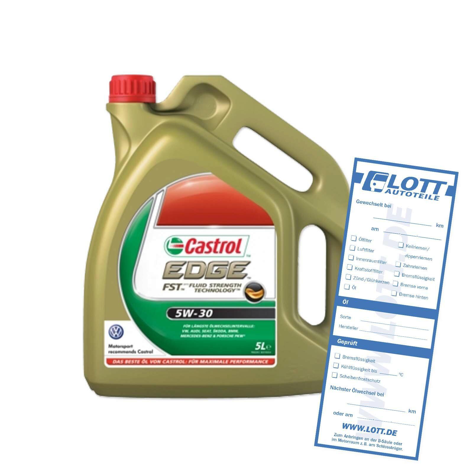 CASTROL Motoröl EDGE FST 5W-305 Liter