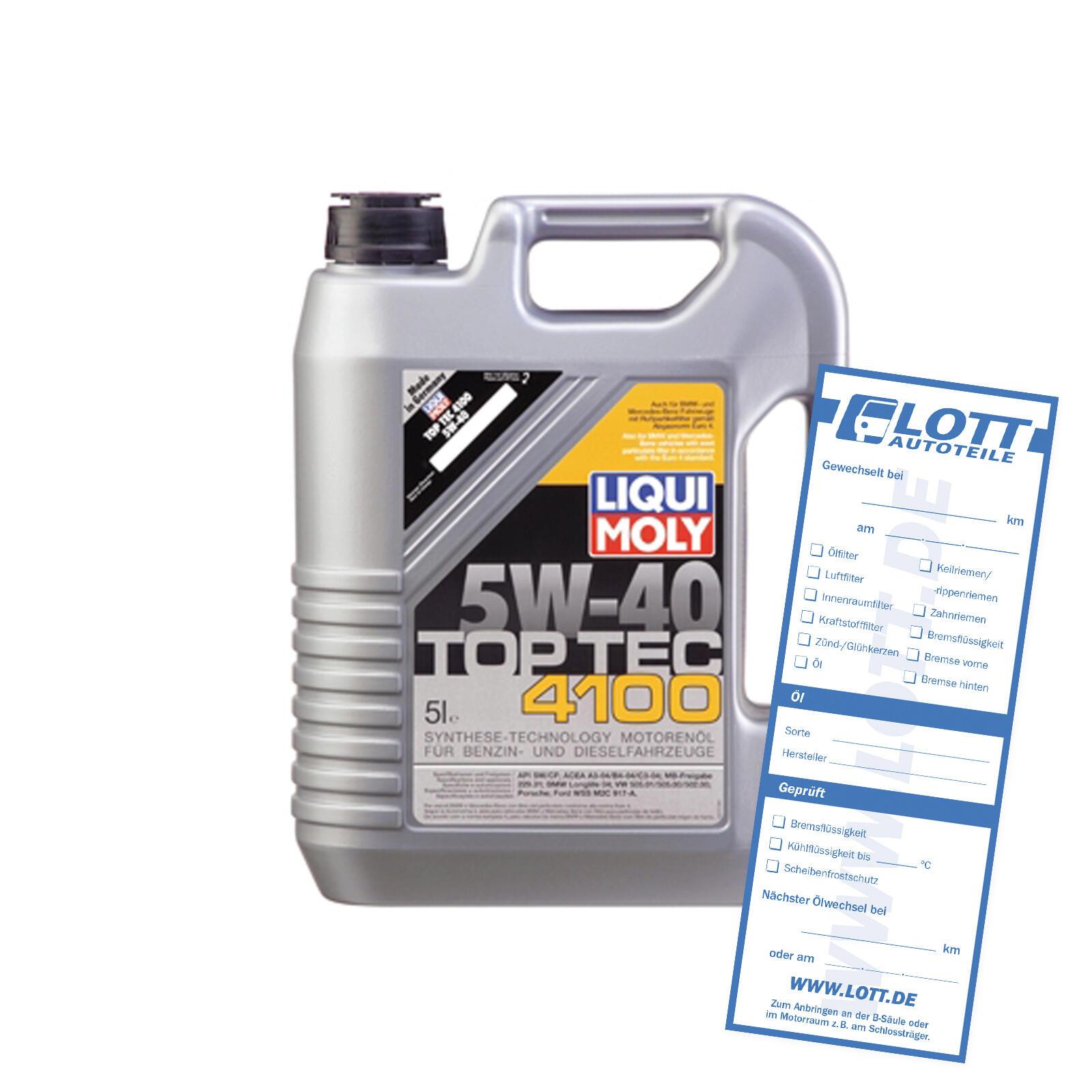 Liqui Moly Leichtlaufmotorenöl Top Tec 4100 5W-40
