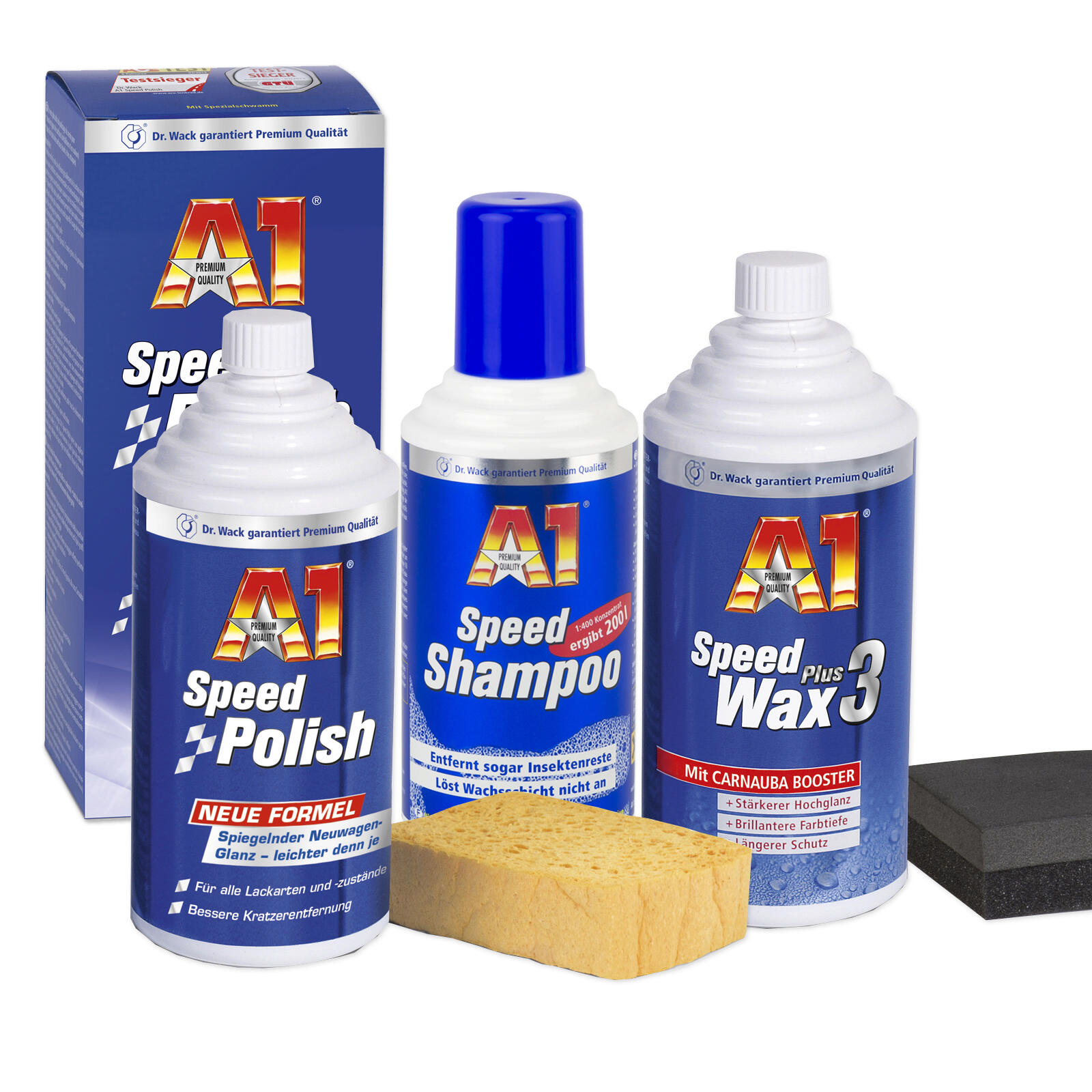 Dr. Wack Speed Set / Shampoo + Polish + Wax