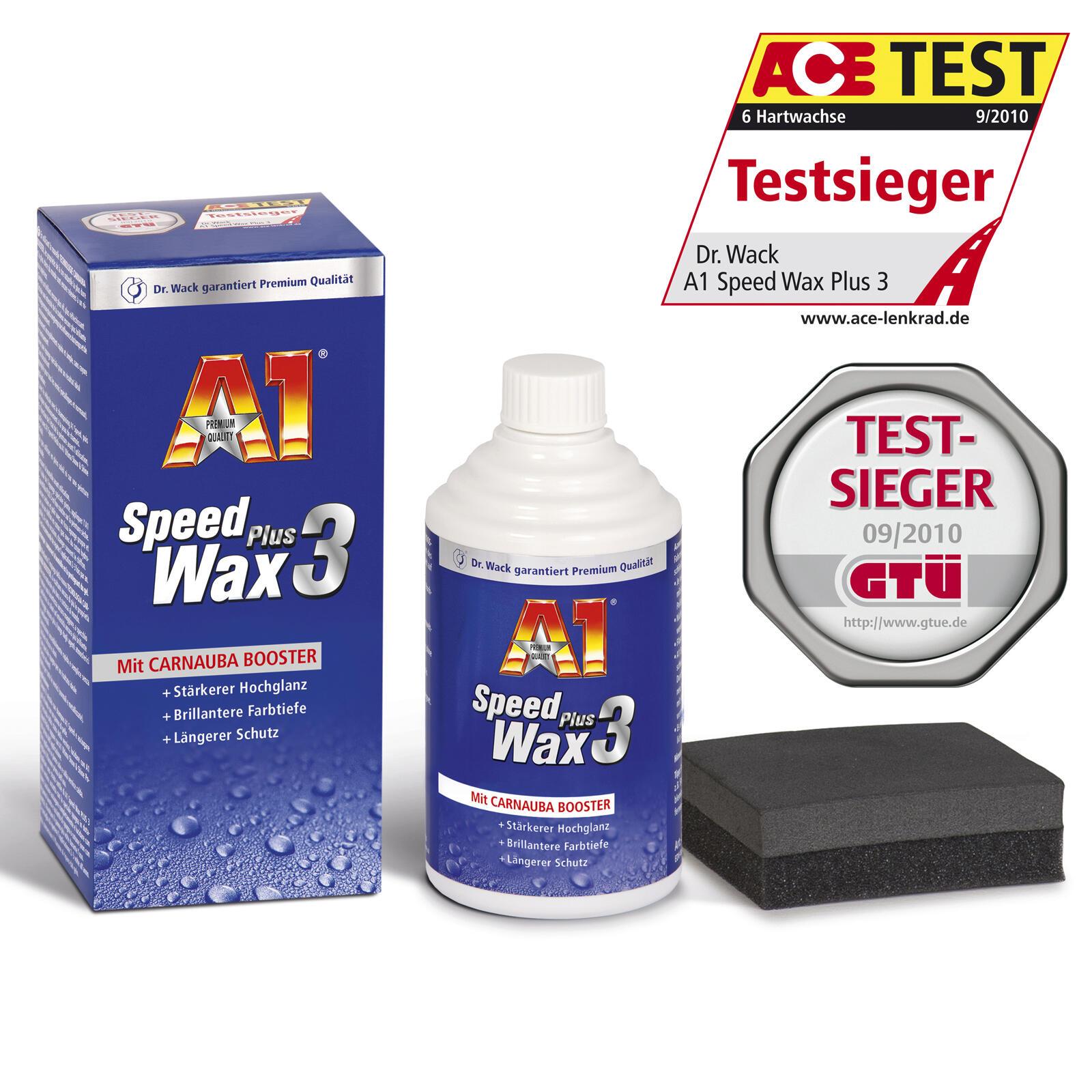 Dr. Wack A1 Speed Wax Plus 3 250 ML 6 Monate Lackschutz Carnauba Technologie