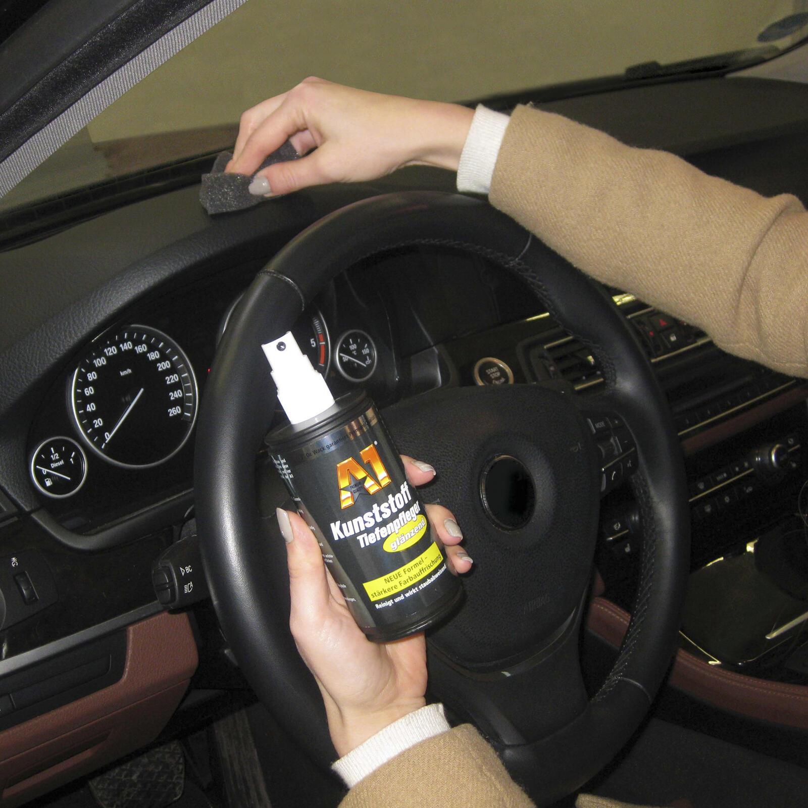 Dr. Wack A1 Kunststoff-Tiefenpfleger glaenzend 250ML Innen & Aussen UV-Schutz