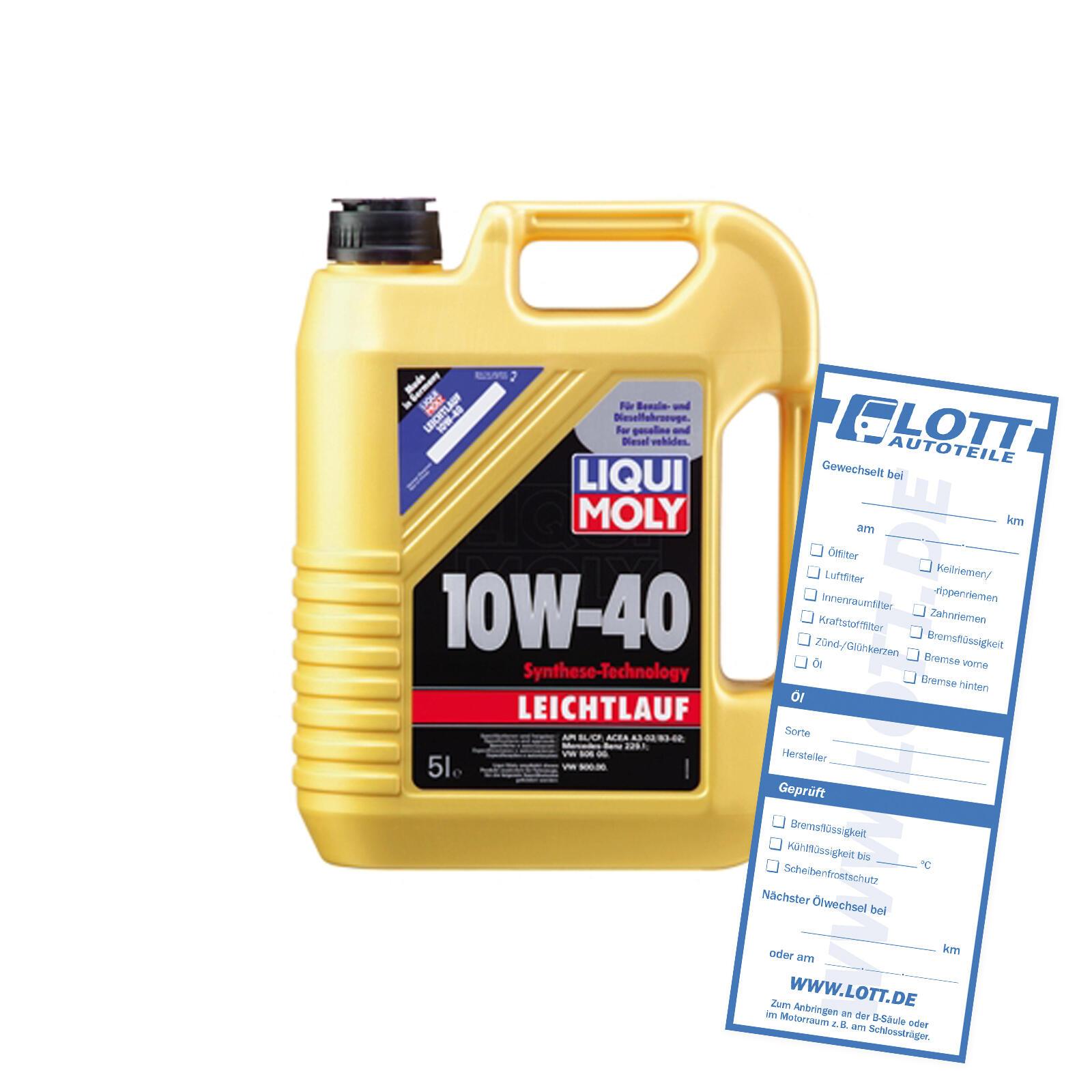 Liqui Moly Leichtlauföl 10W-40 HD 5L