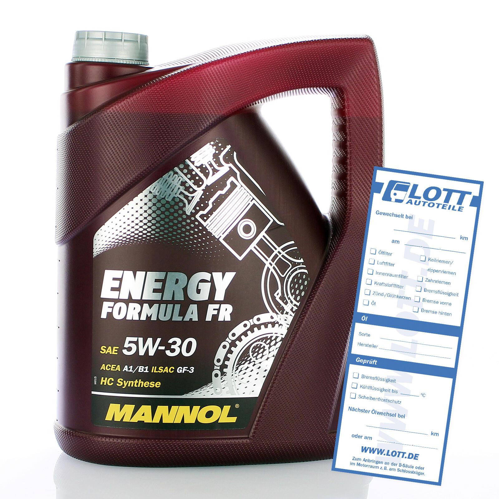 MOTORÖL MANNOL FORMULA FR 5W-30 5 Liter Benzin-und Diesel