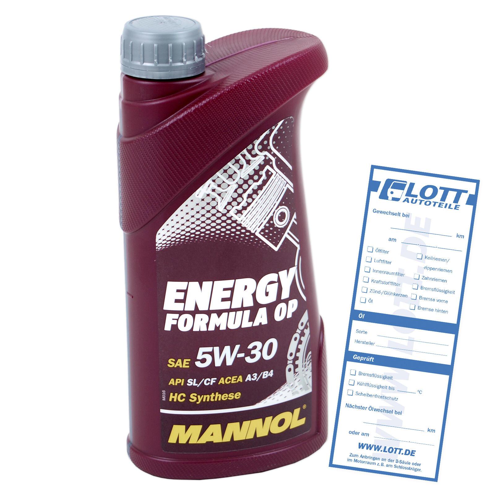 Motoröl Mannol Energy Formula OP 5W-30 1L hydrosynthetisch