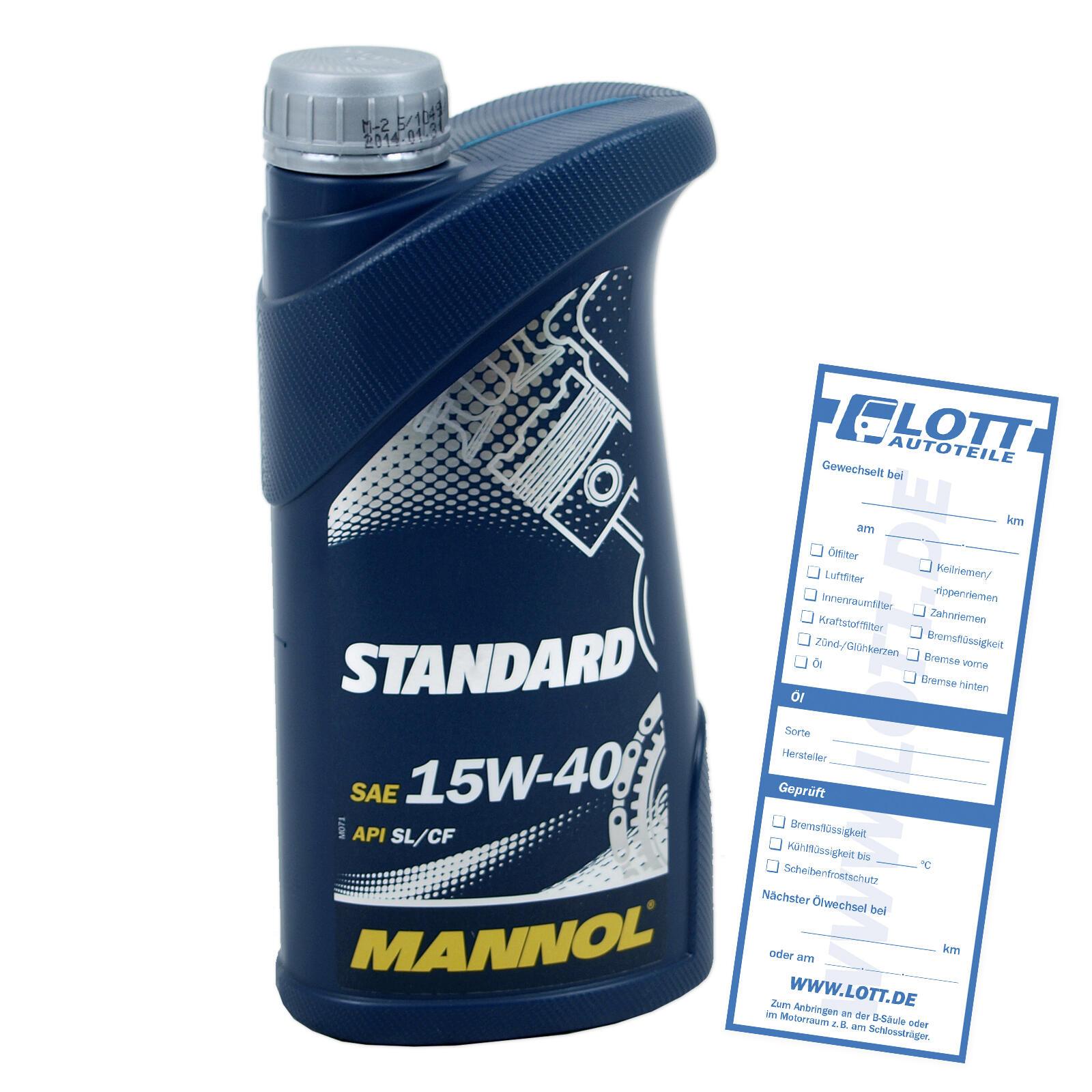 MOTORÖL MANNOL STANDARD 15W-40 1 Liter für Diesel + Benzinmotoren