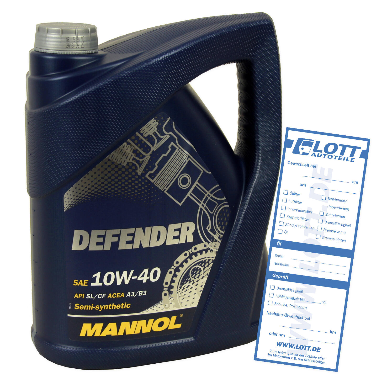 MOTORÖL MANNOL DEFENDER 10W-40 5L
