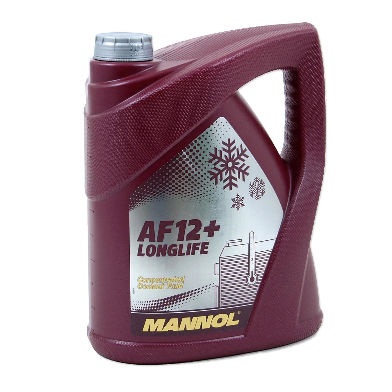 MANNOL Kühlerfrostschutz Longlife Antifreeze AF 12+ Konzentrat 5 Liter