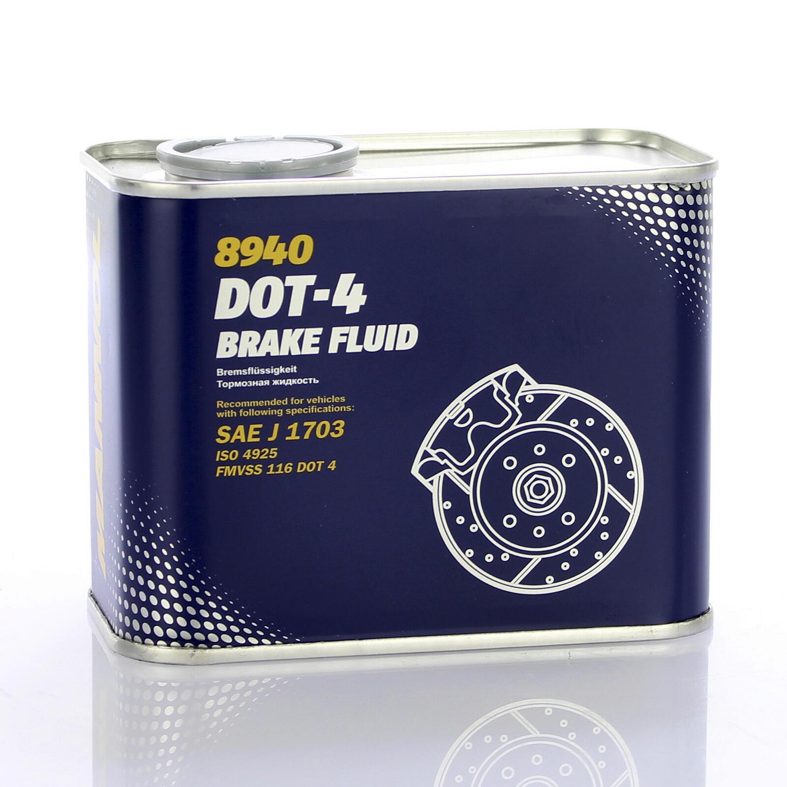 Mannol Bremsflüssigkeit 500ml DOT 4 BRAKE FLUID SAE J 1703